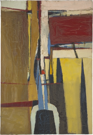 abstract red and yellow painting by Richard Diebenkorn