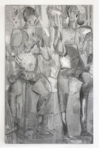 a large painting with multiple figures