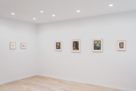 Installation view of drawings by Richard Diebenkorn