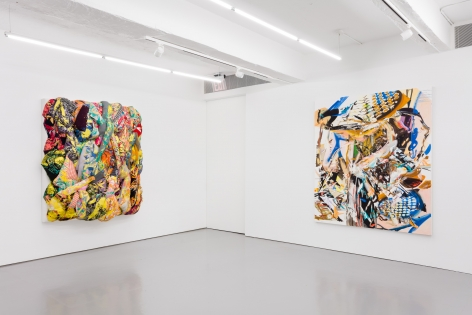 Gallery installation view, 2018, left: Aiko Hachisuka; right: John Williams