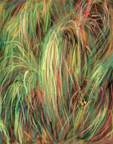 abstract drawing of grass