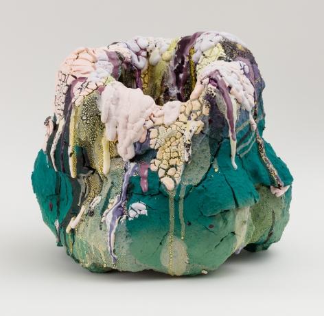 Madidi,2017 Stoneware, earthenware, glaze, glass