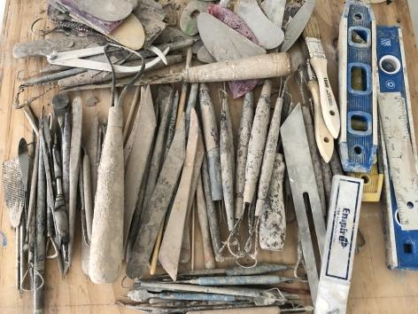 Image of the artist's studio tools