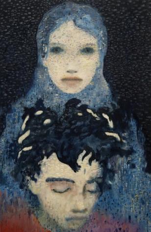 El Azul,2015 Oil on aluminum