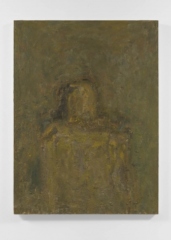 heavy textured portrait painting
