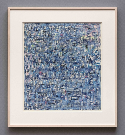 blue abstract pastel drawing