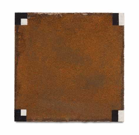 Untitled, undated Acrylic and rust on panel