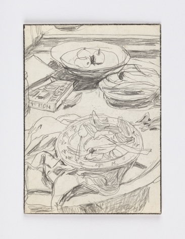 still life drawing of a tablescape