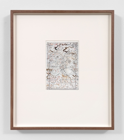 small abstract drawing in a wood frame