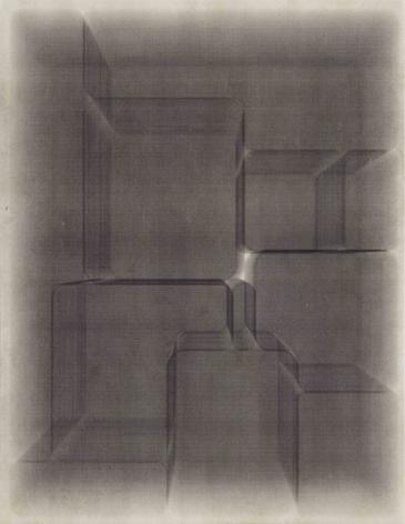 Environments_4,2017 Laser toner on paper, unique