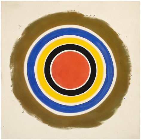 Kenneth Noland, This, 1960Acrylic on canvas84 x 84 inches (213.4 x 213.4 cm)Art © Estate of Kenneth Noland/Licensed by VAGA, New York, NY