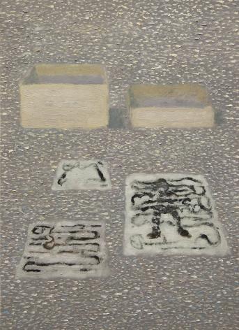 Inward,2011 Oil on aluminum panel