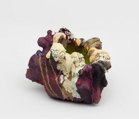 Asteroid,2018 Stoneware, glaze, glass fragments