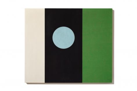 white black green vertical stripes and a blue circle in the center of the black