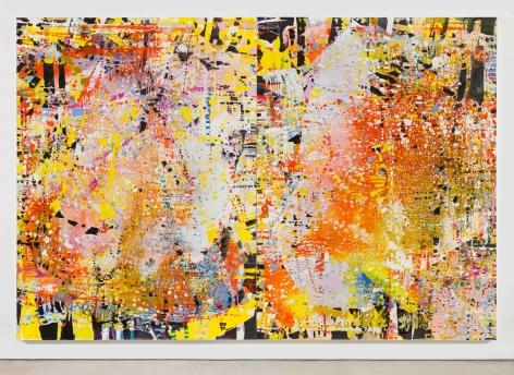 Apocalypse Confetti,2017 Oil and mica on linen