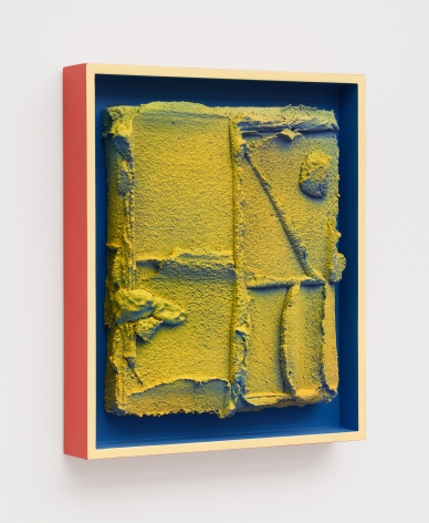 Relief Painting,2018 Ceramic, underglaze, and acrylic on wood, artist's frame