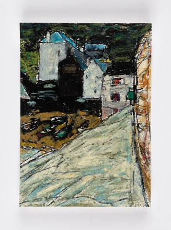 Cornwall,c. 1985 Oilstick on cardstock