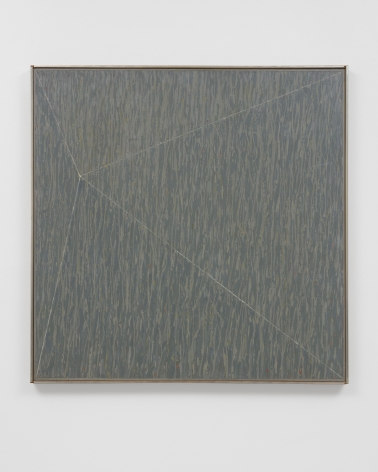 grey drippy abstract painting