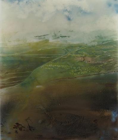 Giacinto OcchioneroLandscape in Motion, 2004Reverse aerosol painting on plexiglass45 1/4 x 37 3/4 inches (114.9 x 95.9 cm)