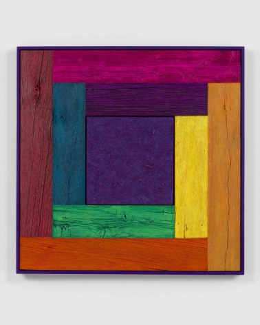 multi-colored abstract square painting