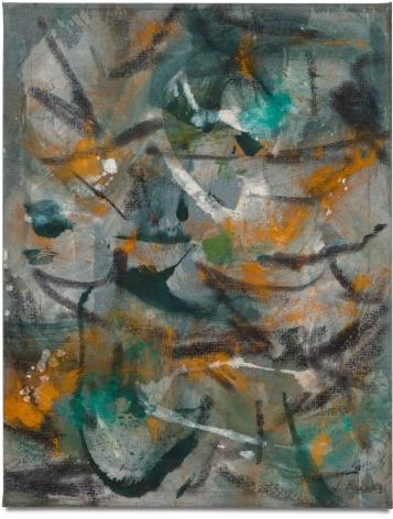 P,1952 Oil on muslin