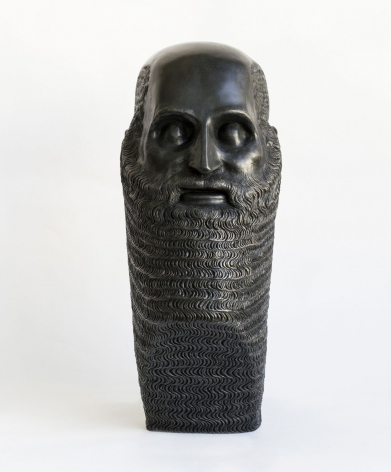 Portrait of a Bearded Man with Triangular Base