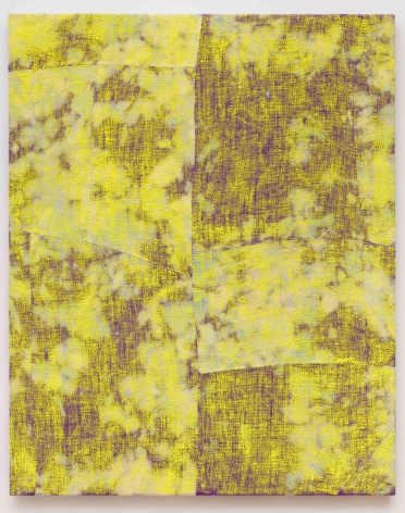 Porosity 2015 Acrylic, dye, and burlap
