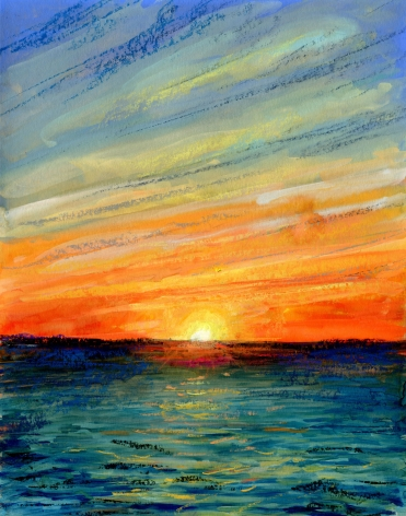 drawing of a sunset