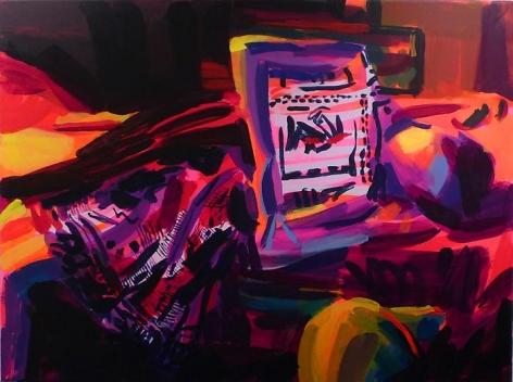 Bryn McConnellUntitled (Miu Miu reclining figure), 2009Acrylic on canvas36 x 48 inches (91.4 x 121.9 cm)