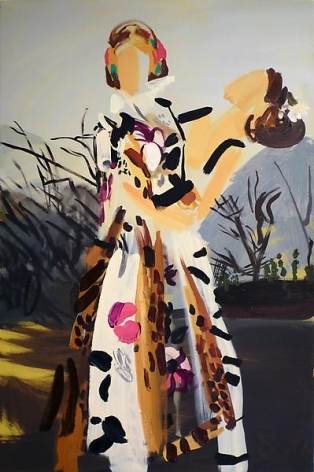 Bryn McConnell(Cavalli Fall 2008) Floral and leopard print on twig tangle, 2008Oil on canvas36 x 24 inches (91.4 x 61 cm)Private Collection