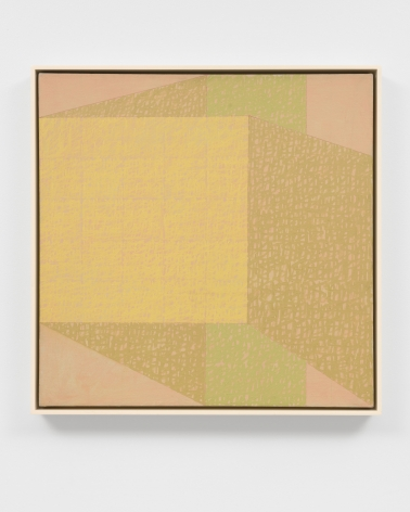 yellow and green geometric abstract painting