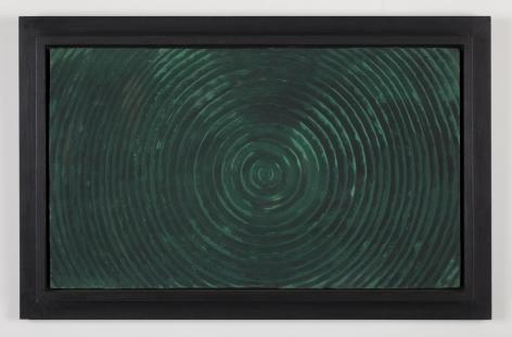 TARGET LANDSCAPE,1985 Casein on wood