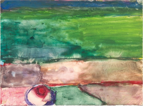 gestural abstract work on paper