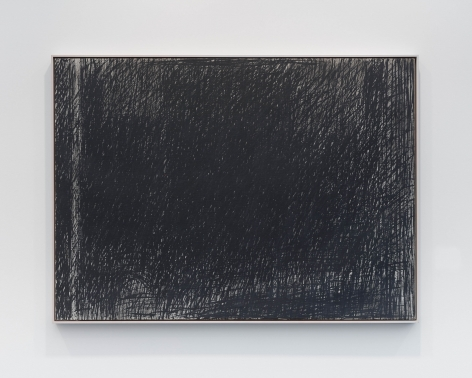 a large rectangular painting that is mostly grey/black