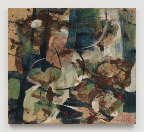 a gestural abstract painting