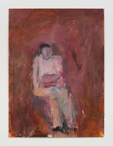 abstracted figure painting on paper