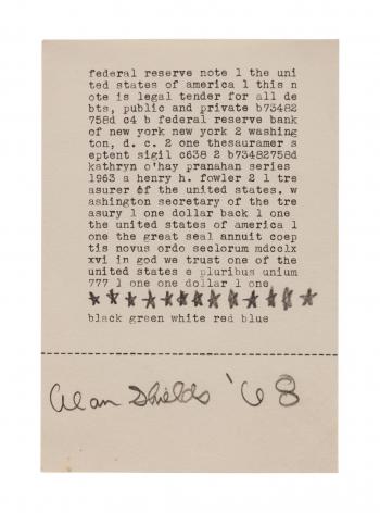 type written text artwork