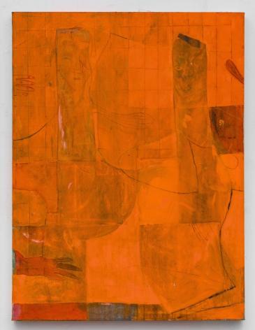 Volker Hüller Untitled (orange double)