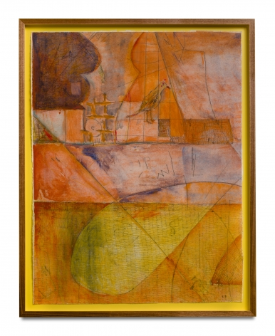 orange and yellow abstract etching