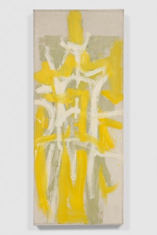 yellow green and white abstract painting