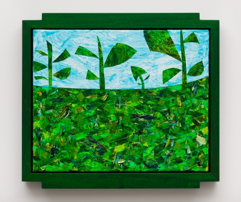 Weeds (#3), 2018 Oil and acrylic on canvas with artist frame