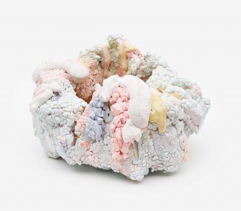 Coral, 2018 Ceramic, glaze, glass fragments