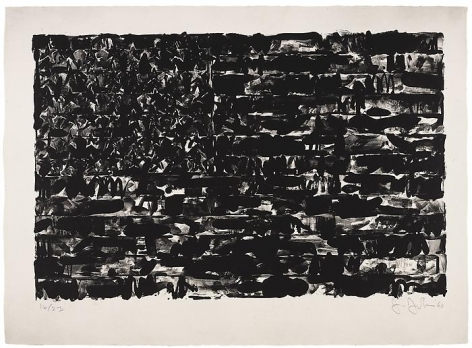 Flag I (ULAE 4)1960Lithograph22 x 30 inches (55.9 x 76.2 cm) paperEdition 6/23Signed, numbered, and dated in pencilJJ 5.6