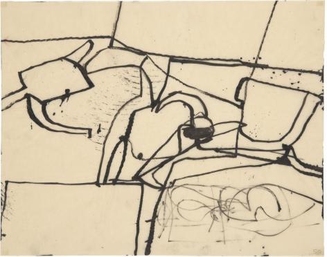 gestural abstract drawing