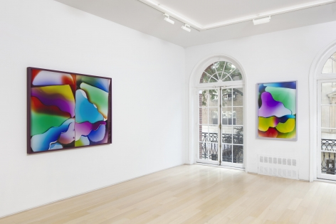 installation image of large scale colorful photos