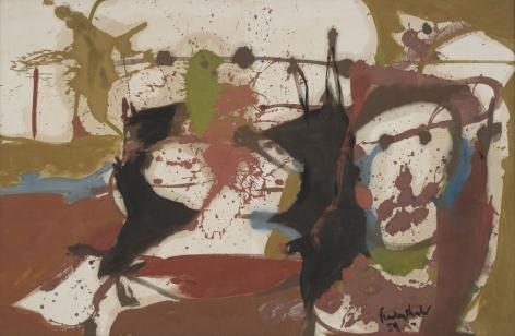 brownish splatter painting