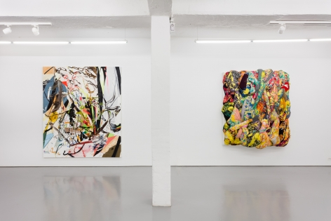 Gallery installation view, 2018, left: John Williams; right: Aiko Hachisuka