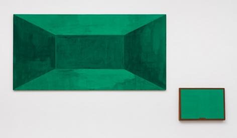 Untitled, 1984 Flashe on panel, 2 parts