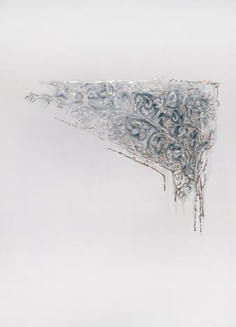 Najmun Nahar Keya  Corinthian Dhaka (30)  Charcoal, graphite, rabbit skin glue, silver, on Fabriano archival paper  28 x 20 in.  2019