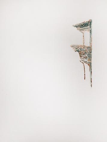 Najmun Nahar Keya  Corinthian Dhaka (19)  Charcoal, graphite, rabbit skin glue, copper, on Fabriano archival paper  11 x 14 in.  2019